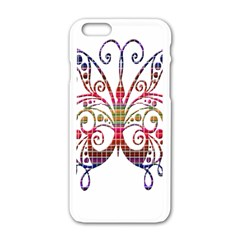 Butterfly Nature Abstract Beautiful Apple Iphone 6/6s White Enamel Case