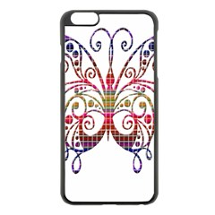 Butterfly Nature Abstract Beautiful Apple Iphone 6 Plus/6s Plus Black Enamel Case