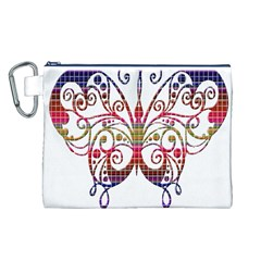 Butterfly Nature Abstract Beautiful Canvas Cosmetic Bag (l)