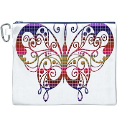 Butterfly Nature Abstract Beautiful Canvas Cosmetic Bag (XXXL)