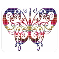 Butterfly Nature Abstract Beautiful Double Sided Flano Blanket (medium)