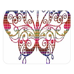 Butterfly Nature Abstract Beautiful Double Sided Flano Blanket (large)