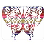Butterfly Nature Abstract Beautiful Double Sided Flano Blanket (Large)   Blanket Back