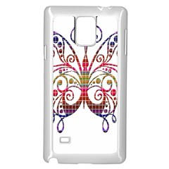 Butterfly Nature Abstract Beautiful Samsung Galaxy Note 4 Case (White)