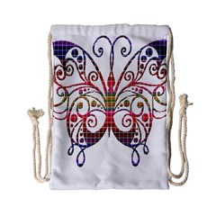 Butterfly Nature Abstract Beautiful Drawstring Bag (small)