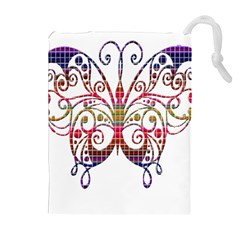 Butterfly Nature Abstract Beautiful Drawstring Pouches (extra Large)