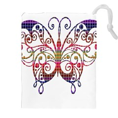 Butterfly Nature Abstract Beautiful Drawstring Pouches (XXL)