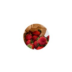 Strawberries Fruit Food Delicious 1  Mini Buttons