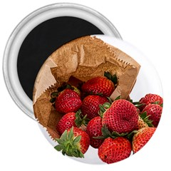 Strawberries Fruit Food Delicious 3  Magnets