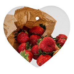 Strawberries Fruit Food Delicious Ornament (Heart)