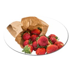 Strawberries Fruit Food Delicious Oval Magnet
