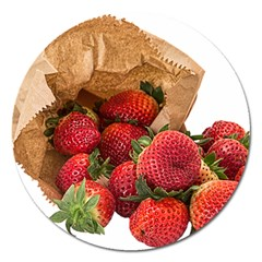 Strawberries Fruit Food Delicious Magnet 5  (round)