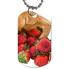 Strawberries Fruit Food Delicious Dog Tag (two Sides)