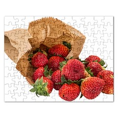 Strawberries Fruit Food Delicious Rectangular Jigsaw Puzzl