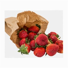 Strawberries Fruit Food Delicious Small Glasses Cloth