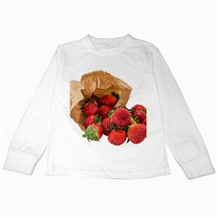 Strawberries Fruit Food Delicious Kids Long Sleeve T Shirts
