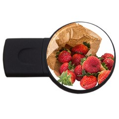 Strawberries Fruit Food Delicious Usb Flash Drive Round (4 Gb)