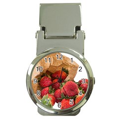 Strawberries Fruit Food Delicious Money Clip Watches