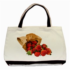 Strawberries Fruit Food Delicious Basic Tote Bag