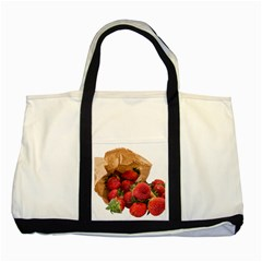 Strawberries Fruit Food Delicious Two Tone Tote Bag