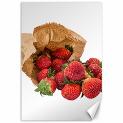 Strawberries Fruit Food Delicious Canvas 12  X 18