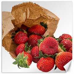 Strawberries Fruit Food Delicious Canvas 16  X 16