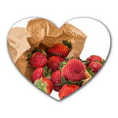 Strawberries Fruit Food Delicious Heart Mousepads