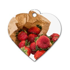 Strawberries Fruit Food Delicious Dog Tag Heart (two Sides)