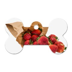 Strawberries Fruit Food Delicious Dog Tag Bone (two Sides)