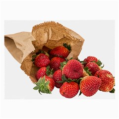 Strawberries Fruit Food Delicious Large Glasses Cloth (2-Side)