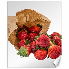 Strawberries Fruit Food Delicious Canvas 11  x 14