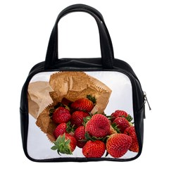 Strawberries Fruit Food Delicious Classic Handbags (2 Sides)
