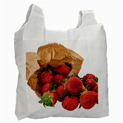 Strawberries Fruit Food Delicious Recycle Bag (Two Side)