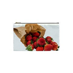 Strawberries Fruit Food Delicious Cosmetic Bag (Small)