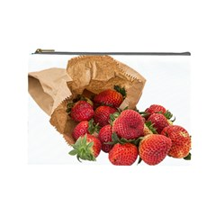 Strawberries Fruit Food Delicious Cosmetic Bag (Large)