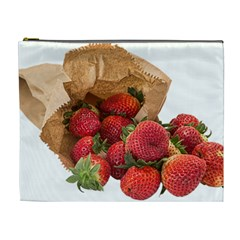 Strawberries Fruit Food Delicious Cosmetic Bag (XL)