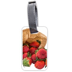 Strawberries Fruit Food Delicious Luggage Tags (One Side)