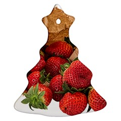 Strawberries Fruit Food Delicious Christmas Tree Ornament (Two Sides)