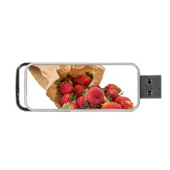 Strawberries Fruit Food Delicious Portable Usb Flash (two Sides)