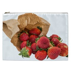 Strawberries Fruit Food Delicious Cosmetic Bag (xxl)