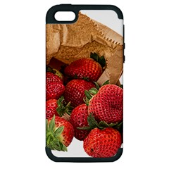 Strawberries Fruit Food Delicious Apple iPhone 5 Hardshell Case (PC+Silicone)