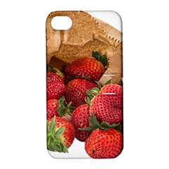 Strawberries Fruit Food Delicious Apple Iphone 4/4s Hardshell Case With Stand