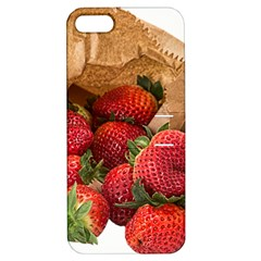 Strawberries Fruit Food Delicious Apple Iphone 5 Hardshell Case With Stand