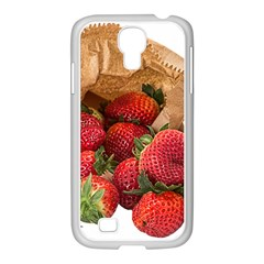Strawberries Fruit Food Delicious Samsung Galaxy S4 I9500/ I9505 Case (white)