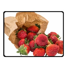 Strawberries Fruit Food Delicious Double Sided Fleece Blanket (small)