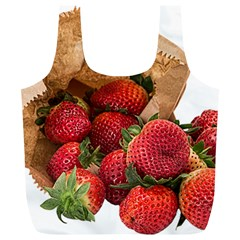 Strawberries Fruit Food Delicious Full Print Recycle Bags (L)