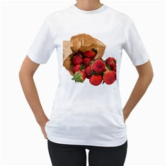 Strawberries Fruit Food Delicious Women s T Shirt (white)