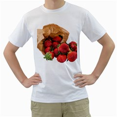 Strawberries Fruit Food Delicious Men s T Shirt (white)