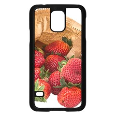 Strawberries Fruit Food Delicious Samsung Galaxy S5 Case (Black)