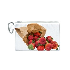 Strawberries Fruit Food Delicious Canvas Cosmetic Bag (S)